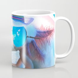 Axolotl Face Wearing Glasses At Beach Coffee Mug