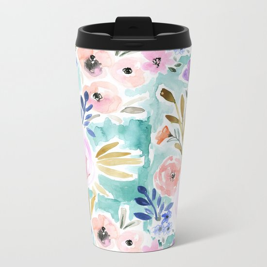 Willow Floral Metal Travel Mug