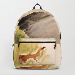 Stoat in the sunset (watercolor) Backpack