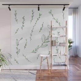 Mistletoe Winter Berry Wall Mural