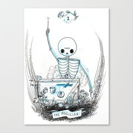 The Magician Skeleton Tarot Canvas Print