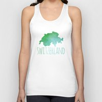 switzerland Tank Tops featuring Switzerland by Stephanie Wittenburg