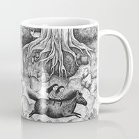 sisters Mugs featuring Sisters by Ulrika Kestere