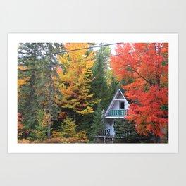 A-frame, Vermont Art Print