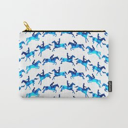 Showjumping Horse Sequence (Blue) Carry-All Pouch