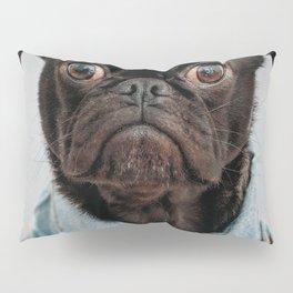 Cute Black Dog - Face Portrait Pillow Sham