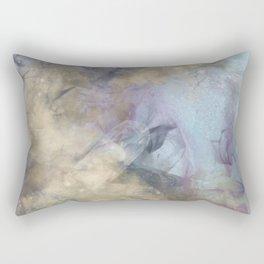 Teal, Purple, Gold Geode Rectangular Pillow
