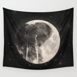 The Elephant in The Moon Wall Tapestry