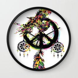 Peace dream cather Wall Clock