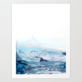 Indigo Abstract Painting | No.6 Art Print
