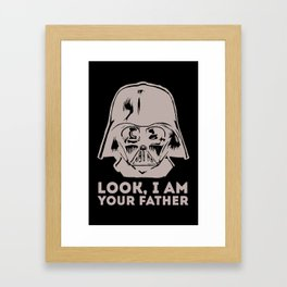LOOK, I AM YOUR FATHER Framed Art Print