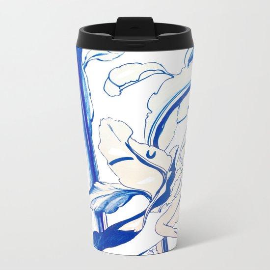 Plant in Blue Marker - Leaf of Life Miracle Leaf - Original Blue Metal Travel Mug