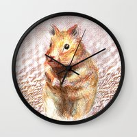 hamster Wall Clocks featuring hamster by dace k