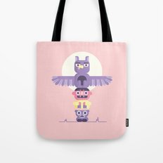 T is for Totem Pole Tote Bag