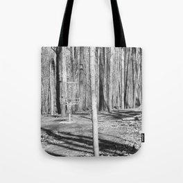 Black And White Disc Golf Basket Tote Bag