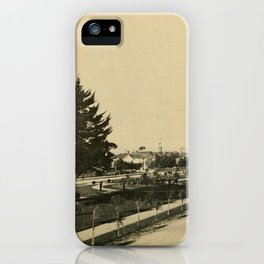 A brief description of the beauties of Alameda (1903) - Park Avenue - Lawns in Midwinter iPhone Case