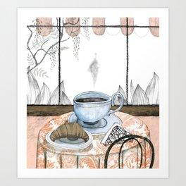 A big breakfast Art Print