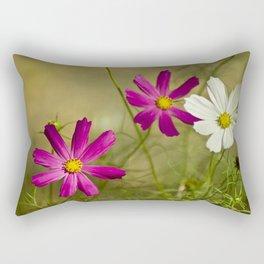 Purple and white autumn flowers Rectangular Pillow