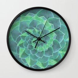 Succulent Rhapsody Wall Clock