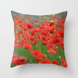 Poppy field 1820 Throw Pillow