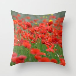 Poppy field 1820 Throw Pillow