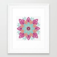 om Framed Art Prints featuring Om by zakumy