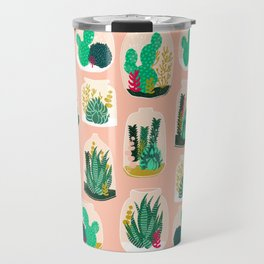 Terrariums - Cute little planters for succulents in repeat pattern by Andrea Lauren Travel Mug