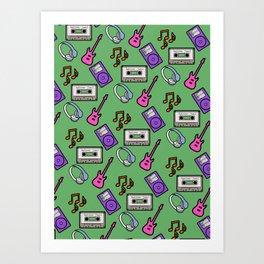 music pins Art Print
