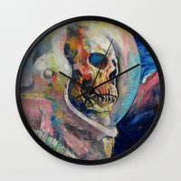 astronaut Wall Clocks featuring Astronaut by Michael Creese