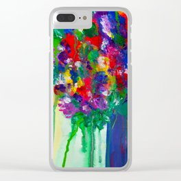 Wildflowers - Cheerful - Botanical Clear iPhone Case