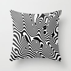Trippy Background Throw Pillow
