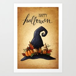 Witch's Hat Art Print