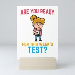 Nerd girl learning school smart Mini Art Print