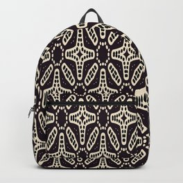 ETHNIC GEOMETRIC BLACK AND WHITE PATTERN Backpack