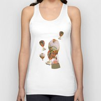 hot air balloon Tank Tops featuring Hot Air Balloon Dream by KarenHarveyCox