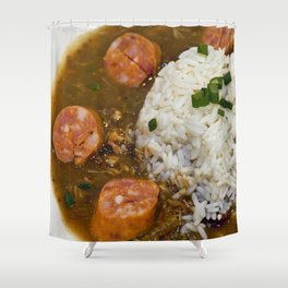 New Orleans Gumbo Shower Curtain