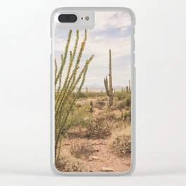 Down Desert Roads, V Clear iPhone Case