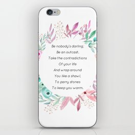Be nobody's darling - A. Walker Collection iPhone Skin