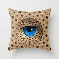 infinite gaze Throw Pillow