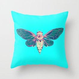 Flying Cicada Throw Pillow