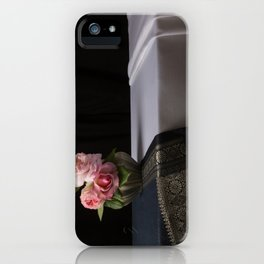 Roses and silk still life iPhone Case