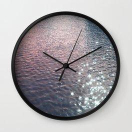 Stars in Water Wall Clock