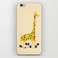 number iPhone & iPod Skins featuring Paint by number giraffe by Picomodi