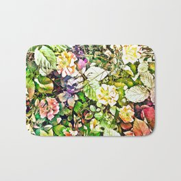 Scattered Blooms And Verdure Bath Mat