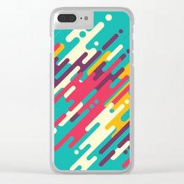 Rhythms on blue Clear iPhone Case