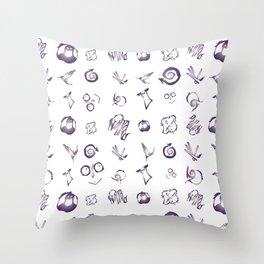 Burtonesque Pattern Throw Pillow