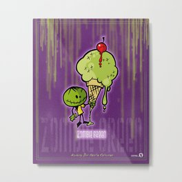 Zombie Green - ABV Collection Metal Print