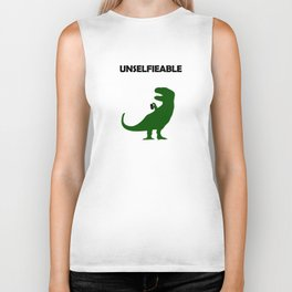 Unselfieable T-Rex Biker Tank