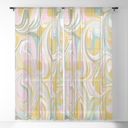 Abstract Marble 01 Sheer Curtain