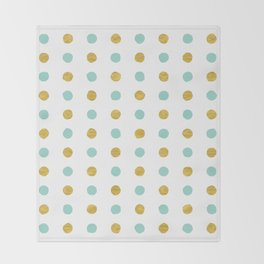 Dalmatian - Sea Foam & Gold Foil #622 Throw Blanket